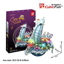 CubicFun 3D Puzzle OC3212L LED City Scape Dubai,Landscape Jigsaws,58 Pieces
