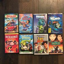 8 Disney Dvd Movies Monsters Inc.Findings Nemo Toy Story 2 Shrek Stitch lot of 8