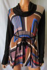 ***BAMBOLITA  MINI ABITO Vestito Dress TG.L Fantasia Multicolor fondo Nero Cd.AS