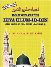 Ihya Ulum Id Din: Book of Religious Learning by Iman Ghazzali (Hardback, 2004)