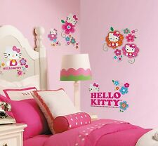 HELLO KITTY FLORAL BOUTIQUE 39 BiG Wall Decals Flowers Room Decoration Stickers