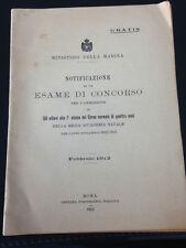 MINISTERO DELLA MARINA REGIA ACCADEMIA NAVALE ANNO 1912 - 1913 ALLIEVI 1° CLASSE