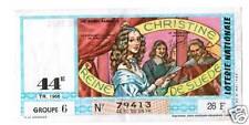 BILLET LOTERIE CHRISTINE REINE DE SUEDE 1966