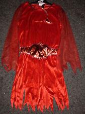 Superbe Robe HALLOWEEN  ROUGE DEMON + serre tête - 13/14 ans - NEUVE