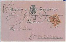 CARTOLINA d'Epoca ASCOLI PICENO provincia - Amandola 1903