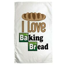 Tea Towel I Love Baking Bread White 70x50cm