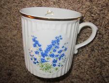 JULY larkspur birthday birth month flower china coffee mug  Czech Republik