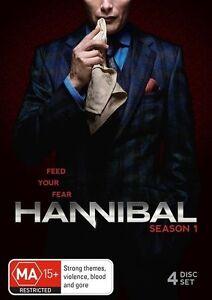 Hannibal: Season 1 (DVD, 4 Discs)  Region 4  - Very Good Condition