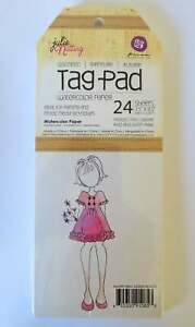Prima Marketing / Julie Nutting Tag Pad 24 sheets of watercolour paper