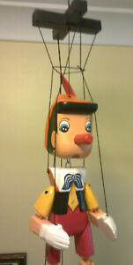 Pinocchio Wooden Marrionette Puppet Hand Made Painted Approx Hght 25cm Gift Idea