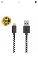 Apple iPhone Charger USB Cable 6ft Nylon Black 5, 6, 6+, 7, 7+