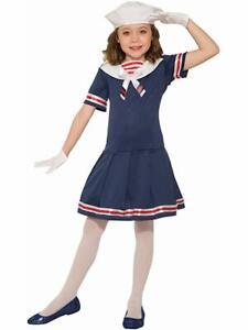 Navy Sailor Girl Marine Uniform Military Sea Force Book Week Child Girls Costume
