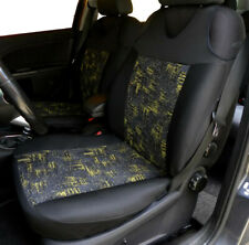 2 YELLOW SEAT COVERS FOR FORD FOCUS C-MAX MONDEO V S-MAX GALAXY