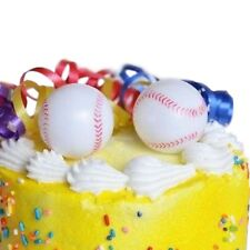Baseball Cake Topper Set of 6