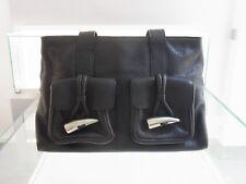 Original Burberry Shoulder Bag Tasche Leder Schwarz Canvas black leather