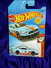 Hot Wheels Custom '18 Ford Mustang Gt 2019 Muscle Mania #3/10 Light Blue Diecast
