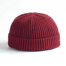 53679c136e5 Unisex Docker Fisherman Cuff Brimless Cap WarmKnitted Hat Beanie Skullcap  Sailor