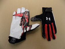 NEW Texas Tech Game Issued Under Armour Football Receiver Sticky Gloves/ XXL