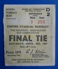 More details for 1949 fa cup final ticket - leicester city v wolverhampton wanderers (damaged)