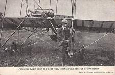 Seltene Foto-AK 1909@Flieger Daniel Kinet vor seinem Flugzeug-Tod bei Absturz`10