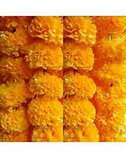 Indian Diwali Marigold Decor Vine Flower Wall Hanging Decor Yellow Garlands