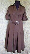 Chocolate brown cotton dress by ANN TAYLOR LOFT Size 14