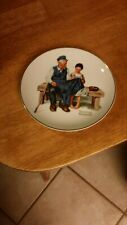 """Norman Rockwell """"The Lighthouse Keeper's Daughter"""" Collector Plate 1984-G Used"""