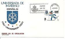 ESPAÑA SOBRE 1º DÍA 1981 2608 UNIVERSIADA 81 MNH **