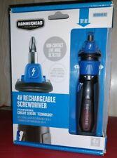 HAMMERHEAD 4v Rechargeable Screwdriver w/Circuit Sensor Tester & 9-Piece Bit Kit