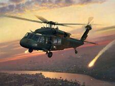 Returning Fire [UH-60 Blackhawk] CANVAS William S Phillips 101st Airborne