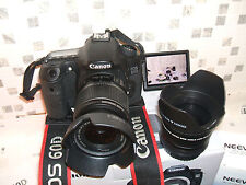 CANON EOS 60D DIGITAL SLR CAMERA WITH THREE LENSES