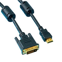 10Ft Premium DVI-D Dual Link to HDMI Cable w/ Ferrite Cores, 28AWG 1080p 3D HDTV