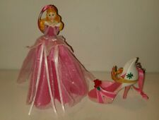 Disney Sleeping Beauty Aurora Shoe Dress Figure Ornament Set Of 2