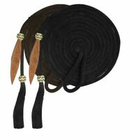 Showman 21' Mecate Reins w/ Horse Hair Tassel & Leather Popper