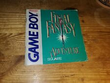 Final Fantasy Adventure Manuel D'Instruction Booklet only nintendo gameboy