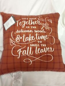 Walk Together Printed Throw Pillow Brown - Threshold