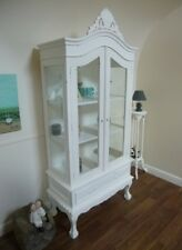 French Shabby Chic Two Door Display Cabinet In White