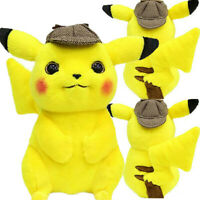 "Pokemon Detective Pikachu 10.5"" Collectible Figures Soft Doll Plush Toy Kid Gift"