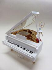 """süßes Piano / Klavier mit Spieluhr """" tanzende Ballerina """" , weißer Flügel , NEU"""