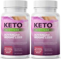 KETO BODYTONE  ADVANCED WEIGHT LOSS  120 CAPSULES - 2 MONTH SUPPLY