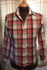 Jack Wills Rojo Rosa a Cuadros Camisa de Franela de Algodón Talla 8