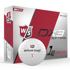 Wilson Staff DX3 SOFT SPIN 2018 3 Piece Surlyn White Golf Balls - BRAND NEW