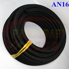 AN16 16AN -16 STEEL NYLON BRAIDED TRANSIMISSION OIL FUEL LINE GAS HOSE 1 FOOT BK