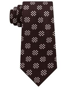 T28 Sean John Brown Men's Silk & Wool Blend Sharp Dot Self-Tied Necktie
