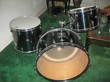"Slingerland drums with RARE  26"" BASS DRUM John Bonham Neil Peart BLACK CHROME !"