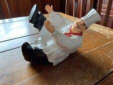 Chef Laying Down Decorative Wine Bottle Holder Kitchen Bar Decoration (used)