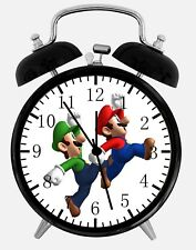 "Super Mario Luigi Alarm Desk Clock 3.75"" Home or Office Decor W323 Nice For Gift"