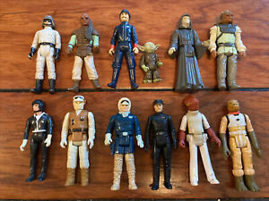 Lot Of 11 Vintage Star Wars Figures Early 80's As Is No Accessories Yoda Emperor
