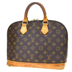 Authentic LOUIS VUITTON LV Alma Hand Bag Monogram Leather Brown M51130 69MD140
