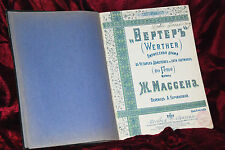 Goethe Werther complete acts book Original French  1903